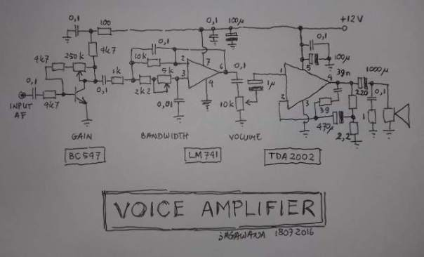 Voice Amplifier TDA2002 KECIL
